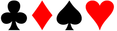 These types are named somewhat after the different playing card suits