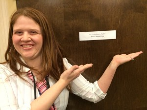 I am posing with the door that has my name on it :)