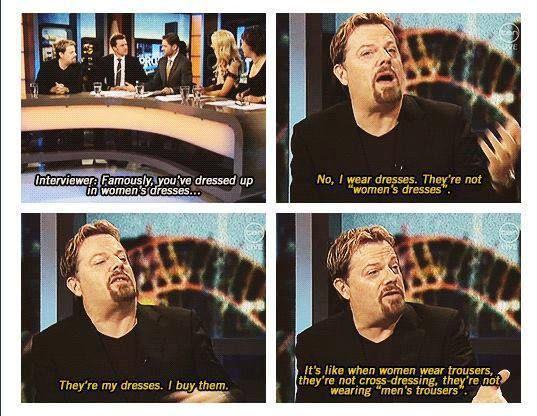 Eddie Izzard sums up our problems in a nice neat statement, God bless him.