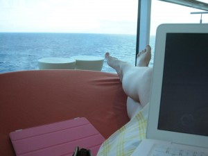 "Trying to read ""Learning Core Audio"" while cruising and enjoying the ocean."