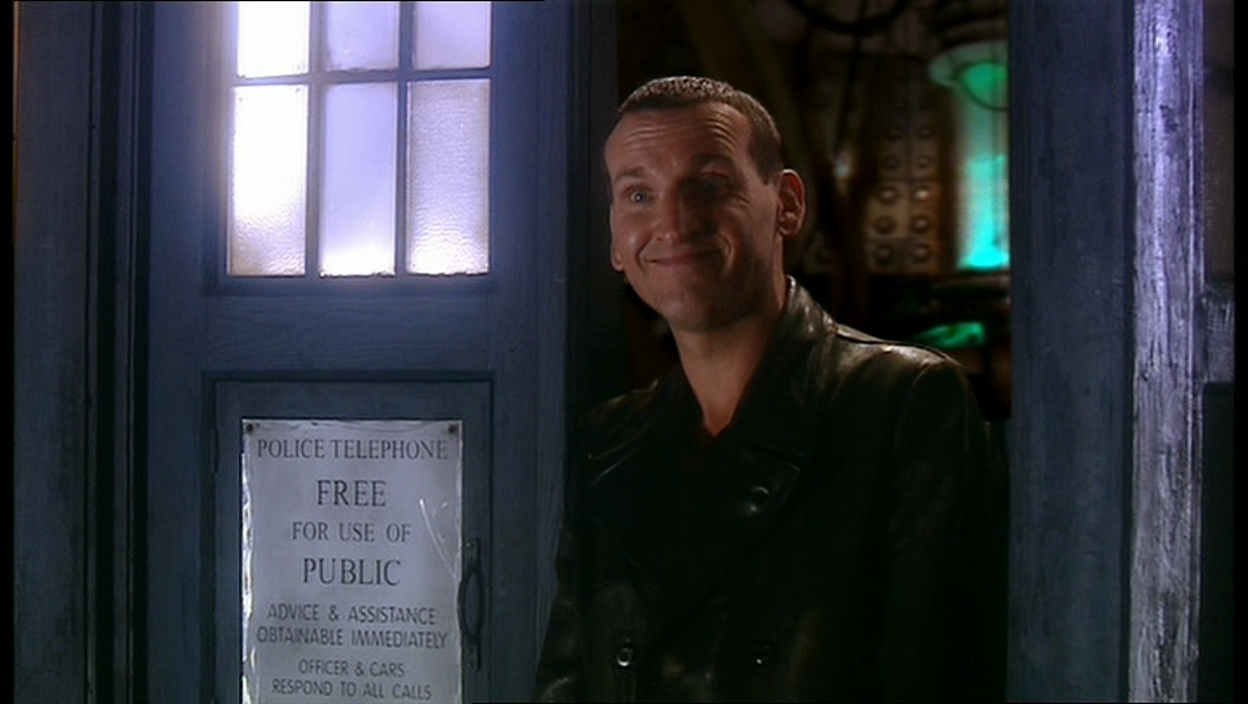 A happier Doctor by the end of the episode.