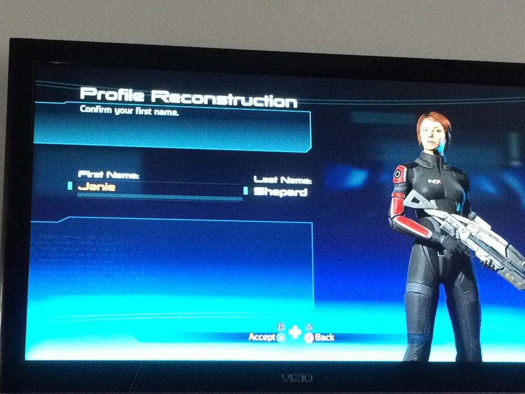 One of these days I will play all of Mass Effect.