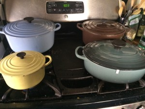 My new little Le Creuset family.